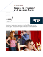 Pago de Alimentos No Evita Prision Por Oaf Cuando La Pena Efectiva Ya Ha Sido Ordenada