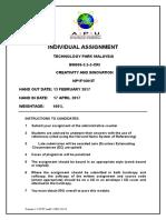 Assignment Cover CRI