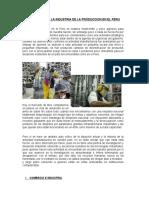 Realidad de La Industria de La Produccion en El Peru