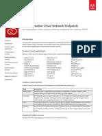 Creative Cloud for Enterprise Service Endpoints