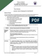 4. CID - Education Program Specialist II (SG 16) Deployed for ALS