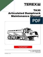 Terex TA30 Articulated Dumptruck Maintenance Manual