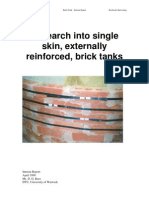Research into single skin, externally reinforced, brick tanks and low-cost, thin-shell, ferrocement tank