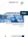 Recommendations for designing Rainwater harvesting system tanks