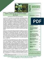 Fertilización de Plantaciones de Pino