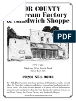 DC Ice Cream Factory Menu
