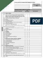 Inspeccion EPP Trabajos en Altura