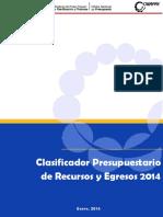 Clasificador presupuestario 2014