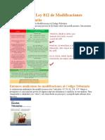 Analisis de La Ley 812 de Modificaciones Codigo Tributario de Bolivia