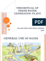 Fresh Water Generating Plant Presentation
