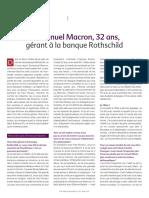 Emmanuel Macron, 32 ans, gérant à la banque Rothschild