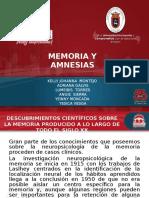 Memoria y Amnesia
