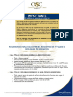 Zona1 Solicitar Registro de Titulos o Diplomas Academicos