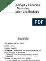 Introducción a La Ecología