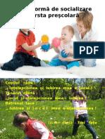 Jocul CA Formă de Socializare La Vârsta Peşcolară