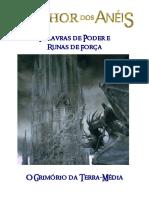 O Senhor Dos Anéis RPG - Palavras de Poder e Runas de Força - O Grimório Da Terra-Média - Biblioteca Élfica