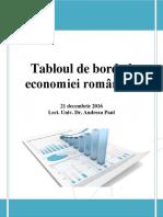 Tabloul de Bord Al Economiei Romanesti 21 Decembrie 2016