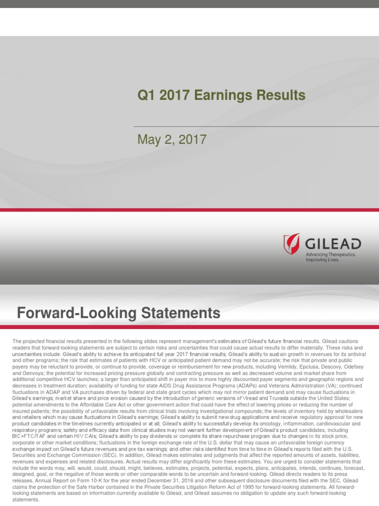 Gilead earnings date in Perth