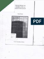 Principios de La Teoria de La Restauración Cesare Brandi