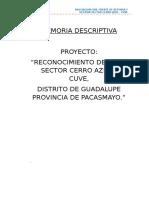 Memoria Descriptiva Cerro Azul