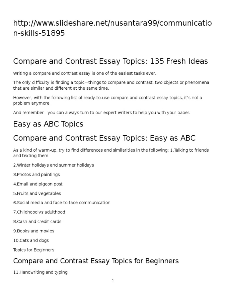 Thesis Examples In Essays  Reflective Essay English Class also Good High School Essay Topics Compare And Contrast Essay Topics  Essays  Communism Essay Proposal Format