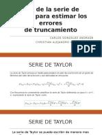 Uso de La Serie de Taylor Para Estimar