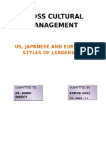 Us, Japanese & European Style of Leadership