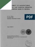 Charcoal Briquettes Cost Report 1971