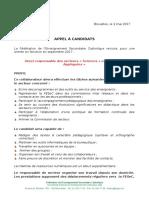 2017-09-01 Appel Candidature RS Sciences - Sciences Appliquées