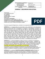 Reglamento de Higuiene y Seguridad Industrial