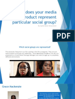 Fibnal How Does Your Media Product Represent Particular Social