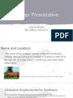 lauren mcgee  college presentation