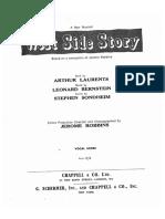 Bernstein West Side Story Vocal Score