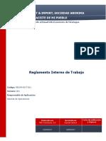 Reglamento Interno - Nmg Export & Import