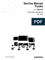 Service Manual Trucks Group 880–500 Cab, Interior Equipment VN, VHD