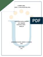 Evaluacion Final- Ejercicios 1,2 y 3 Algebra Lineal