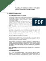 Principios Contractuales y Economicos Concordados Con La Constitucion Politica Del Estado