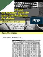 FLISOL 2017 - Herramientas FOSS Para DDJ