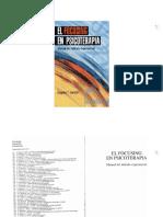 Gendlin (1999) El Focusing en Psicoterapia. Manual Del Método Experiencial.
