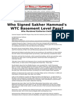 Who signed Sakher Hammad's WTC basement level pass, and what was he doing whatreallyhappened_com.pdf