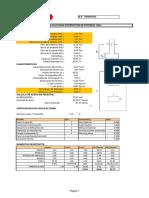 Cimentación Int. Potencia, Secc. Linea, Secc. Barras, Pórtico Trapecio