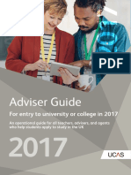 Adviser Guide, UCAS, 2017