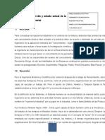 Historia, Desarrollo de La Ing. Industrial