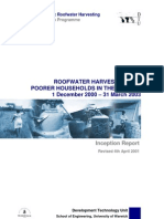 ROOFWATER HARVESTING FOR POORER HOUSEHOLDS IN THE TROPICS