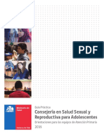 """""""Consejería en Salud Sexual y Reproductiva Para Adolescentes 2016"""""""