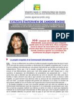 EXTRAITS D'INTERVIEW DE CANDIDE OKEKE
