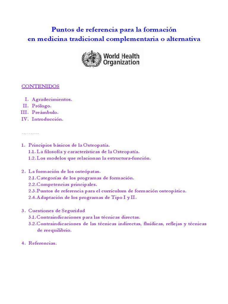 Formacion Osteopatia Oms