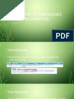 database technologies in bioinformatics