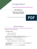 C Programming III - Karl W Broman