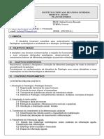 Fisiopatologia - Prof. Stefani Garcia Rezende